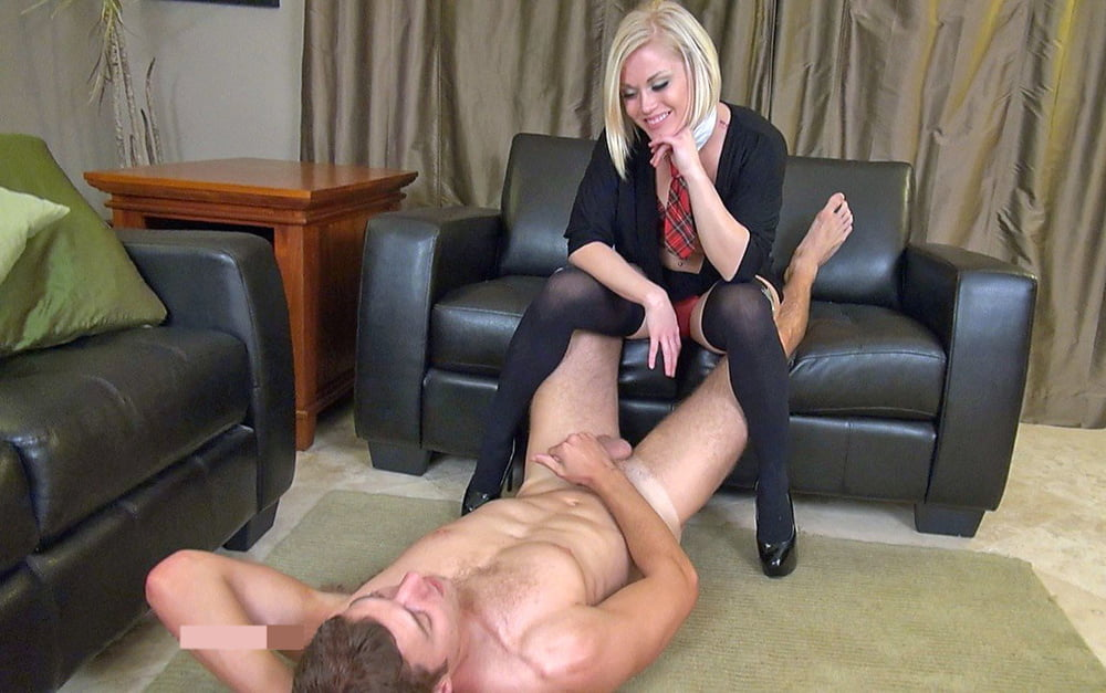 hot blonde maid gives a rimjob to her horny boss