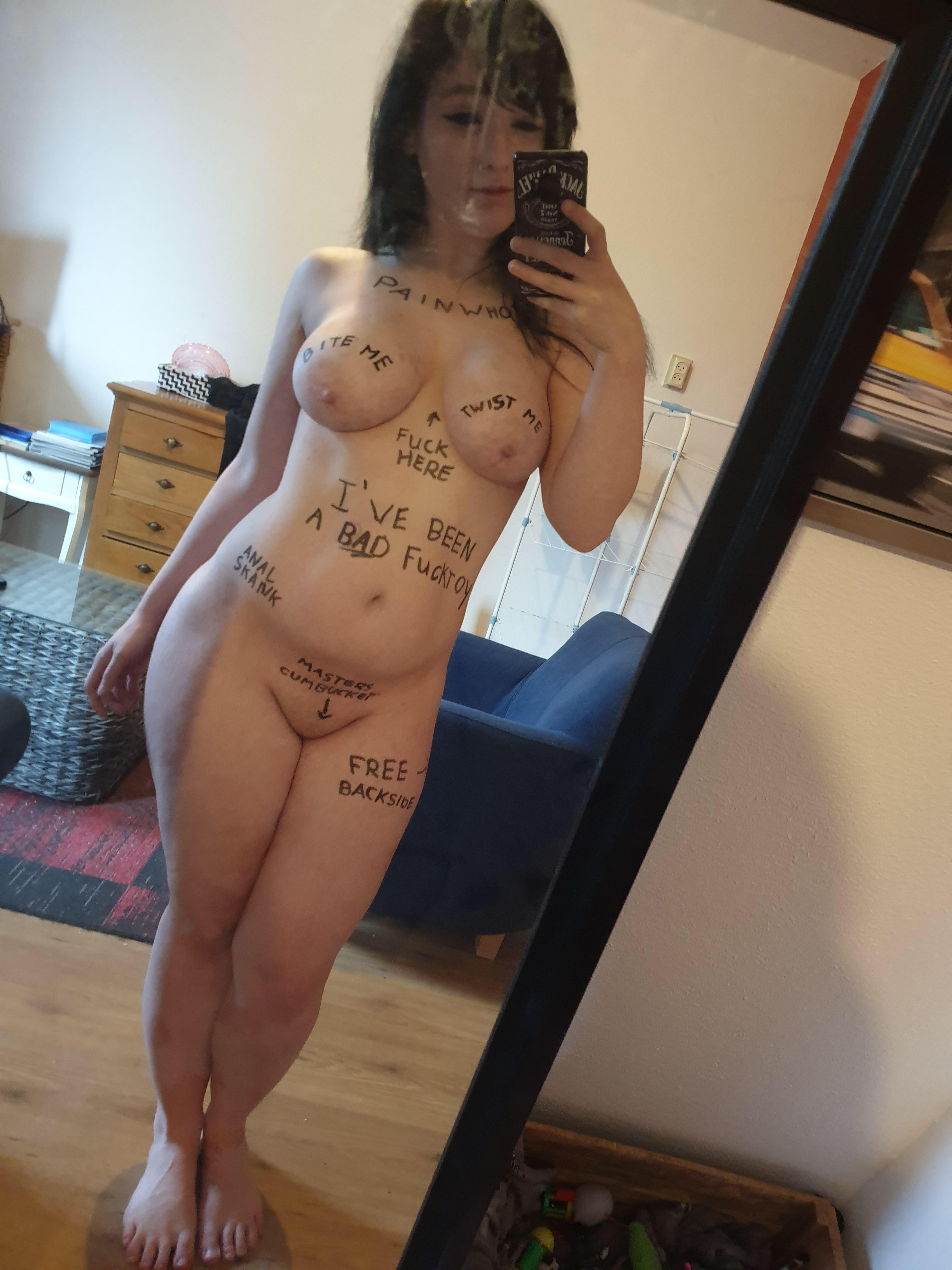 old chuby belly amateur woman dancer whore has a silly smile tmb